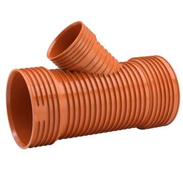 Uponor Ultra Rib2/Double kloakgrenrør 315 x 200 mm 45° Ekskl. tætningsring.
