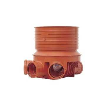 Uponor rense og inspektionsbrønd for 315 mm opføring i 160 mm Højre/Venstre - type 2 i PP. Til glat,