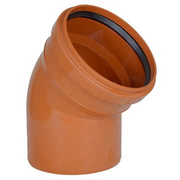 Kloakbøjning PP 110 mm x 45° SN4 kloakbøjning pp kloakfittings kloakplast kloakvinkel